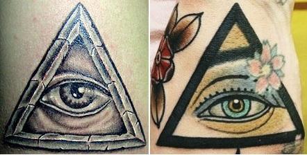 фото татуировок глаза в треугольнике